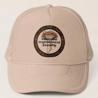 För samhällelogotyp för kaskad Mycological hatt Truckerkeps
