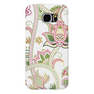 För Samsung för art déco blom- fodral galax S6 Galaxy S5 Fodral