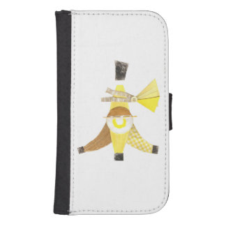 För Samsung för banan kluvet fodral för plånbok