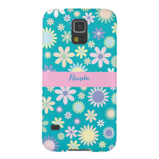 För Samsung för blått blom- fodral galax s5 Galaxy S5 Fodral