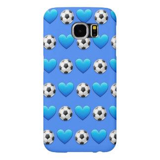 För Samsung för blåttfotbollboll fodral galax S6 Samsung Galaxy S6 Fodral