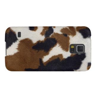 För Samsung för Cowhidelädertryck Nexus galax Galaxy S5 Fodral