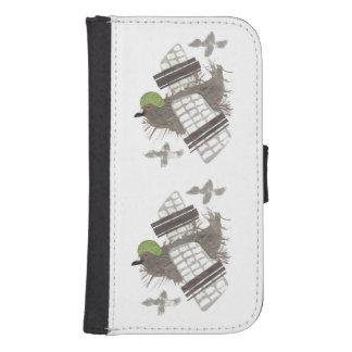 För Samsung för duva plant fodral för plånbok