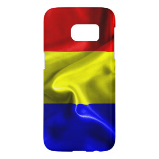 För Samsung för Tchad flaggastruktur fodral galax Galaxy S5 Skal