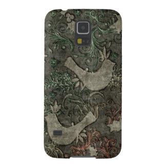 För Samsung för vintageLoveBirds präglad Nexus Galaxy S5 Fodral