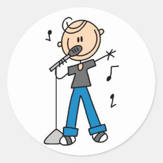 för sångarestick figur för 50-tal Male t-skjortor Klistermärken