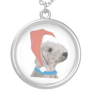 För Santa för Bedlington Terrier halsband hatt
