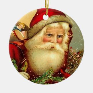 För Santa för gammal värld för vintage prydnad jul Julgransprydnad Keramik