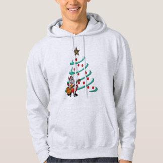 för santa för julgran roliga manar kvinnor hoodie