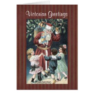 För Santa för julsamlingsVictorian kort barn
