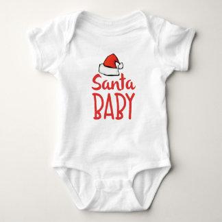 För Santa för Santa hatthelgdag ordstäv | baby T-shirt