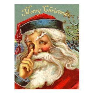 För Santa för vintage antik vykort jul