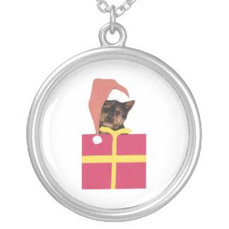 För Santa för Yorkshire Terrier halsband hatt