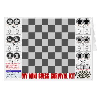 För schacköverlevnad för DIY mini- sats Papercraft Hälsningskort
