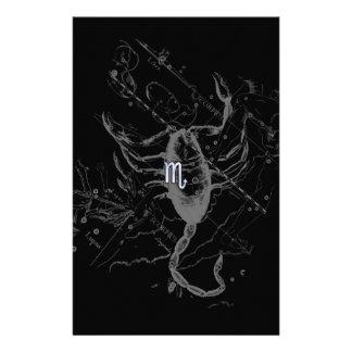 För ScorpioZodiac för krom likt symbol på Hevelius Brevpapper