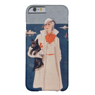 För Scotty för kostym för vintagedamvit hav för Barely There iPhone 6 Skal