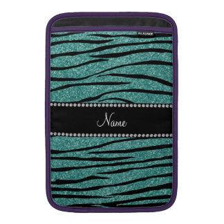 För seafoamgrönt för anpassningsbar känd zebra rän MacBook air sleeves