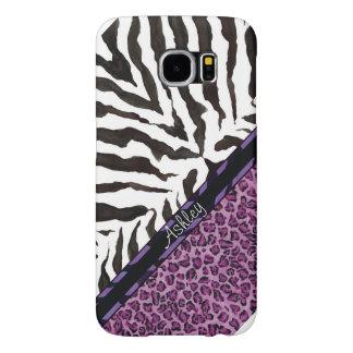 För sebraLeopard för vild galet roligt tryck, Galaxy S5 Fodral