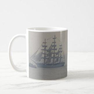 För segelbåtsegling för frakter nautiska marin- kaffemugg