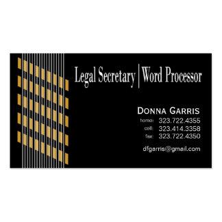 För sekreterareord för trådd rosett band laglig set av standard visitkort
