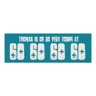 För sextiofödelsedagsfest för barn 60 kricka för