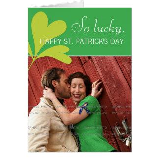 För Shamrockgrönt för lycklig st patricks day Hälsningskort