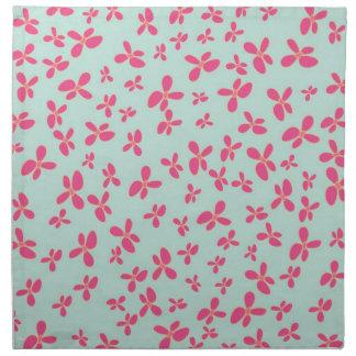 För shock rosablomma för Mint grönt mönster Tygservett