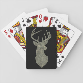 För Silhouettebock för hjort Head trofé i Casinokort