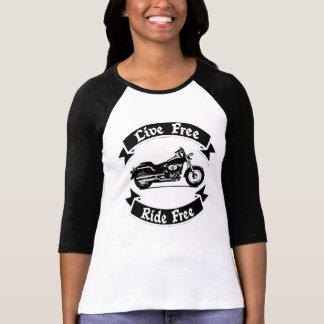 För Silhouettemotorcykel för levande snålskjuts T-shirt