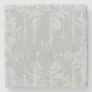 För silvergrå färg för modern vintage blom- underlägg sten