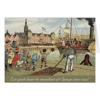 För Sinterklaas för dag för St. Nicks holländsk Hälsningskort