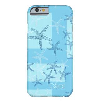 För sjöstjärnaiPhone 6 för blått abstrakt fodral Barely There iPhone 6 Skal