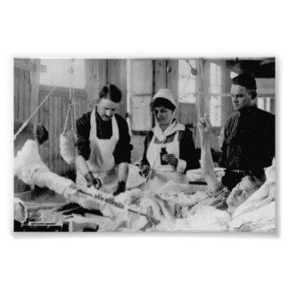 För sjuksköterskafält för världskrig en sjukhus fototryck
