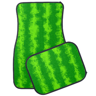För skalsommar för vattenmelon grönt mönster för bilmatta