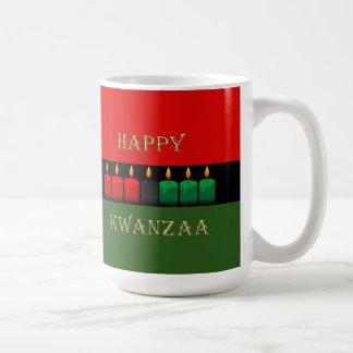 För sken Kwanzaa ljust mugg