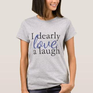 För skjortaJane Austen för blått grå Laughter för Tee Shirt
