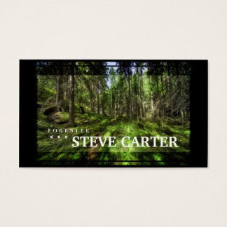 För skogträd för skogvaktare grönt trä för natur visitkort