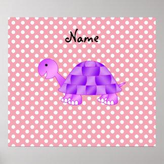 För sköldpaddarosor för personlig känd purpurfärga posters