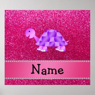 För sköldpaddarosor för personlig känt purpurfärga posters