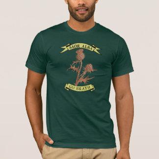 För Skottland för Gaelic fri T-tröja för Thistle Tröja