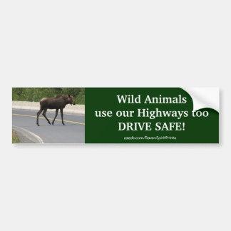 För skyddsväg för älg djur bildekal för säkerhet