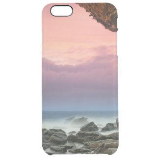 För skymninghimmel för härligt hav rosa strand för clear iPhone 6 plus skal