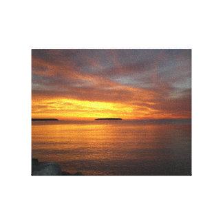För Slå in-Kanfas för solnedgång högvärdig konst v Canvastryck