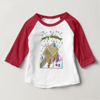 För sleeveRaglan för baby 3/4 T-tröja, god jul T Shirt