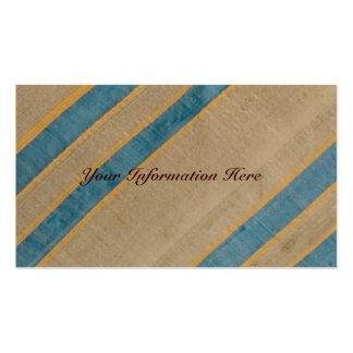 För slipstextil för vintage randiga visitkortar set av standard visitkort