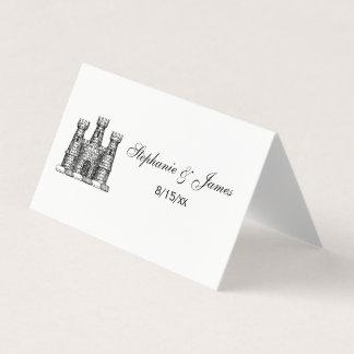 För slottEmblem för vintage heraldisk vapensköld Placeringskort