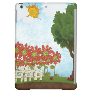 För smart Matte Fodral-Växande blommor iPadluft