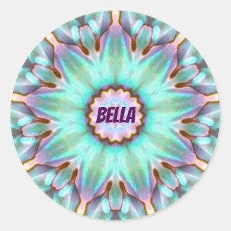 För snäckaFractal för BELLA ~ personifierad Paua ~ Runt Klistermärke