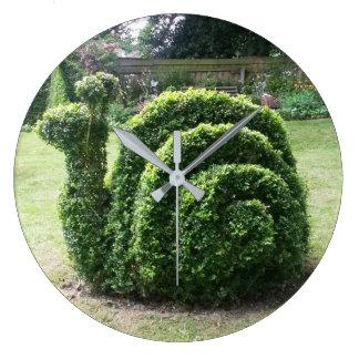För snigelleende för Topiary trädgårds- klocka för