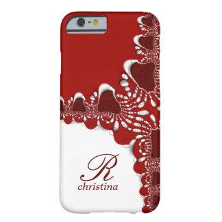 För snöreFractals för röd vit stam- iPhone 6 för Barely There iPhone 6 Fodral